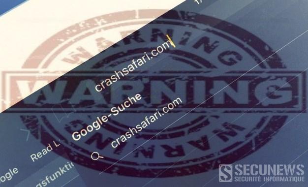 Crashsafari.com, le site qui fait planter les iPhones et iPad