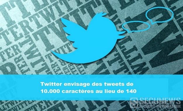 Twitter envisage des tweets de 10.000 caractères au lieu de 140