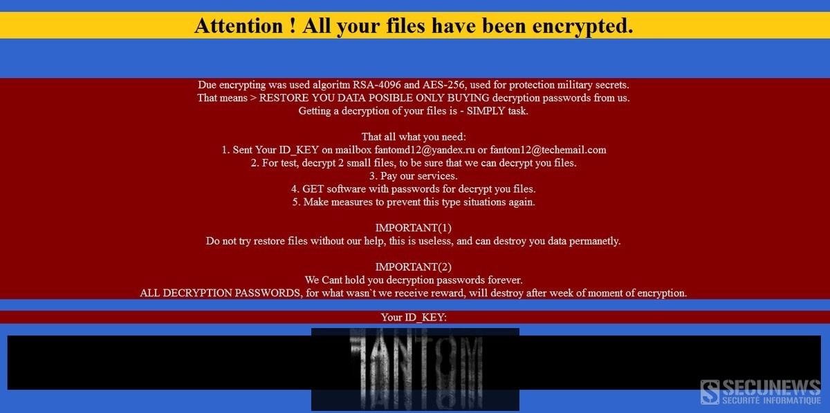 Fantom le ransomware qui se fait passer pour Windows Update
