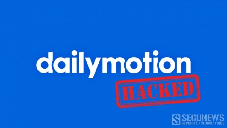 Piratage des identifiants de 85 millions d'utilisateurs de Dailymotion