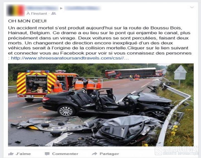 Un nouveau cas de phishing sur facebook frappe les utilisateurs Belges