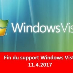 Fin du Support étendu de windows vista depuis le 11 avril 2017