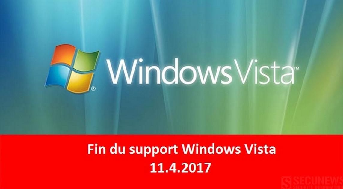 Fin du Support étendu de windows vista depuis le 11 avril 2017