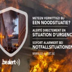 Test d'alerte du service de BE-Alerte ce 5 octobre 2017 (sirènes + service d'alerte par sms)