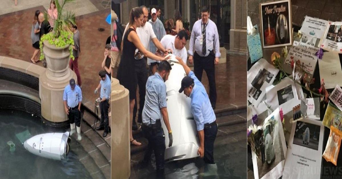 KnightScope K5, un robot agent de sécurité se «suicide» en se jetant dans une fontaine