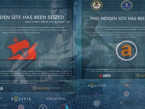 Hansa et AlphaBay, deux sites majeurs du dark web fermés par les autorités