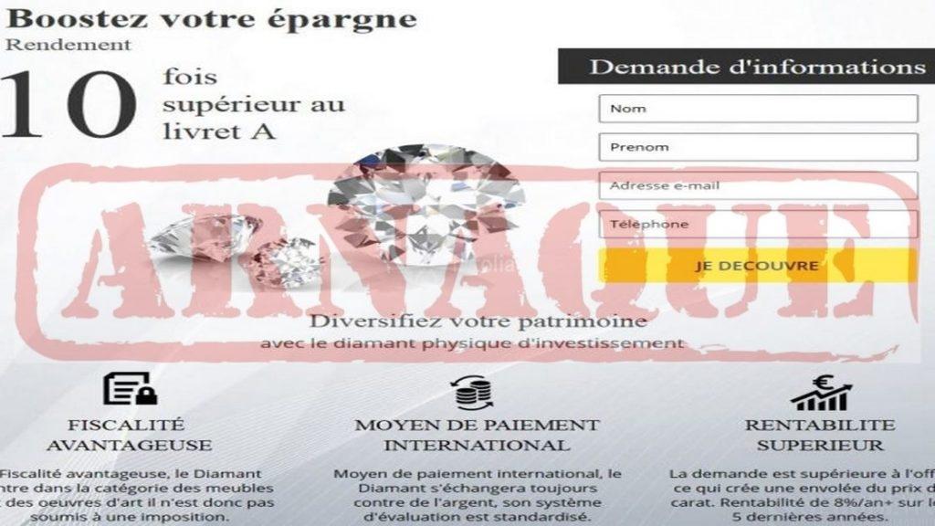 Attention: L'arnaque 'aux diamants d'investissement' sévit en Belgique