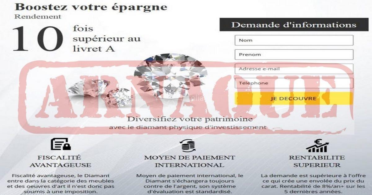 665d471d810b2 Attention  L arnaque  aux diamants d investissement  sévit ...