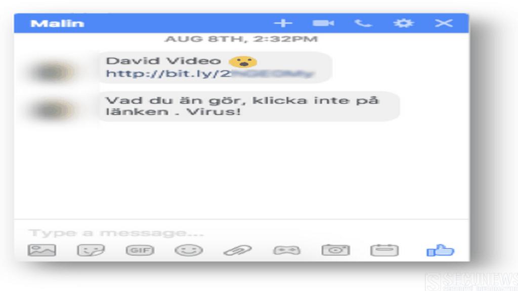 Un malware se répand via Facebook Messenger