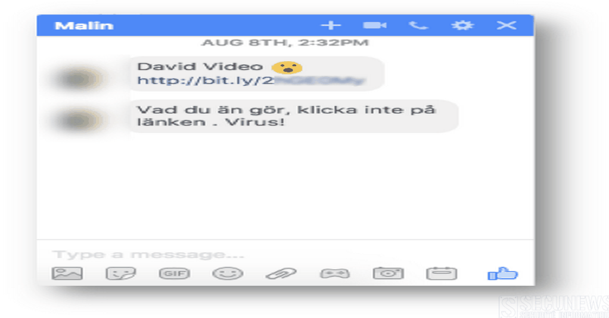 Un malware se répand via Facebook Messenger