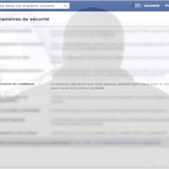 Tentative de phishing sur Facebook, via la fonction 'contacts de confiance'