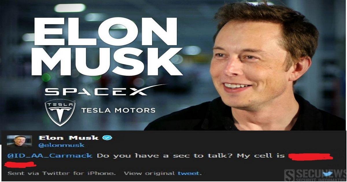 Elon Musk publie par erreur son numéro de portable sur Twitter