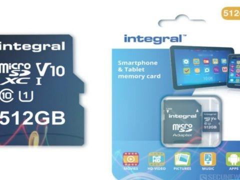 Integral présente une carte microSD de 512 Go, un nouveau record