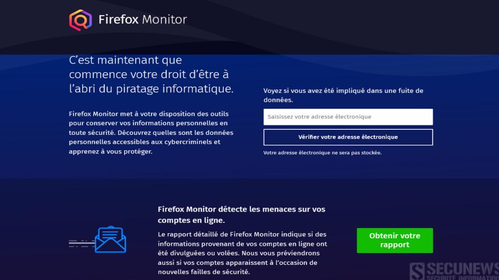 Avec Firefox Monitor, découvrez si vos identifiants ont été piratés