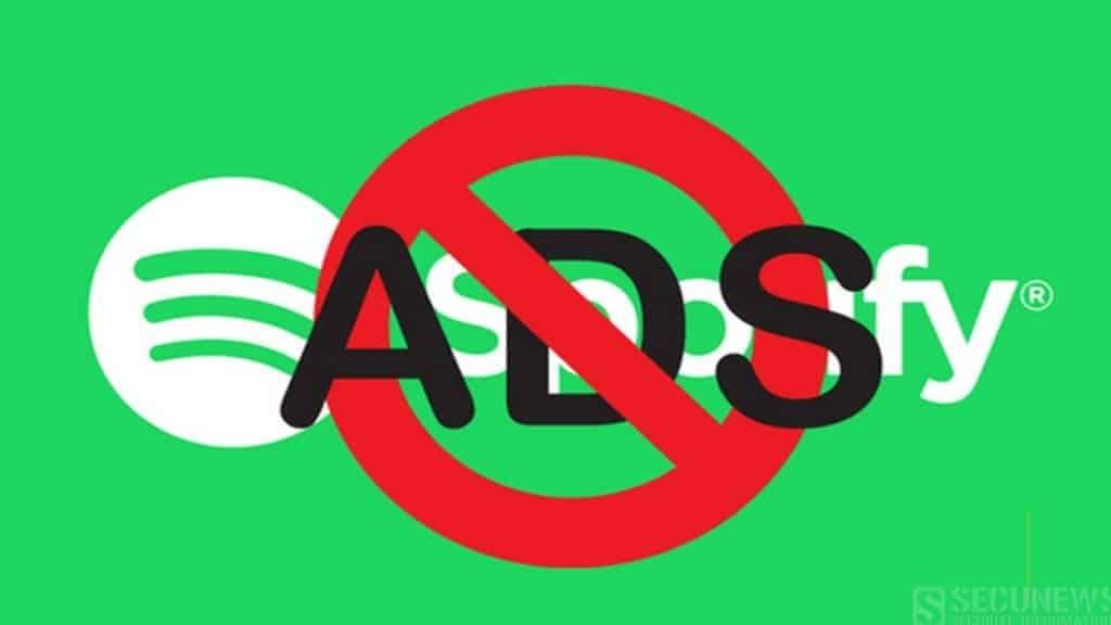 Utiliser un bloqueur de publicités sur spotify, pourrait entraîner la suppression de votre compte.