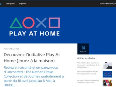 Sony vous offre 4 jeux sur PlayStation 4  du 16 avril  au 6 mai 2020